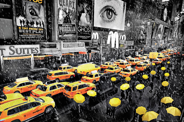 New York - umbrella Poster, Art Print