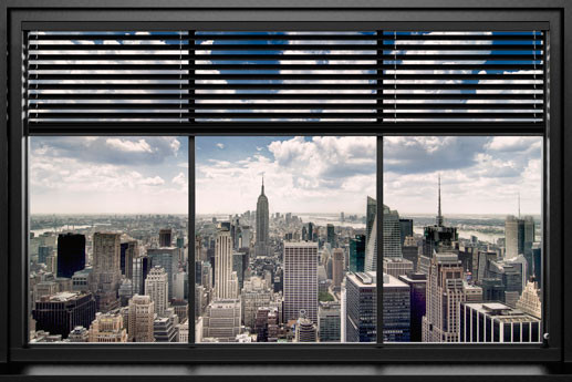 New york window blinds poster sold at europosters for Acheter poster mural new york