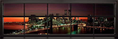New York - window blinds Poster, Art Print