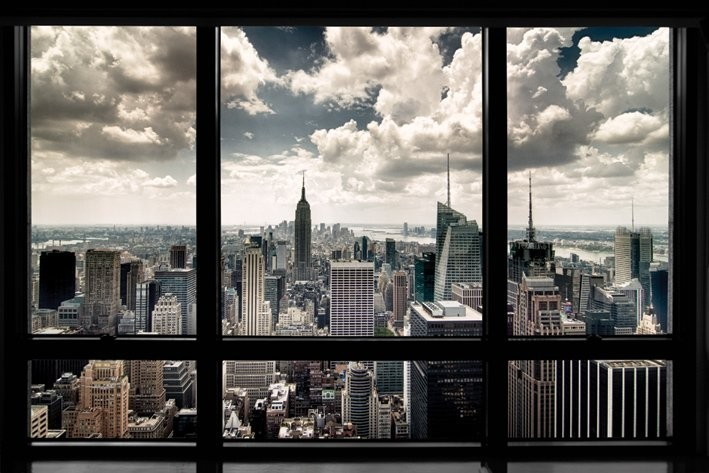 new york window poster sold at ukposters. Black Bedroom Furniture Sets. Home Design Ideas