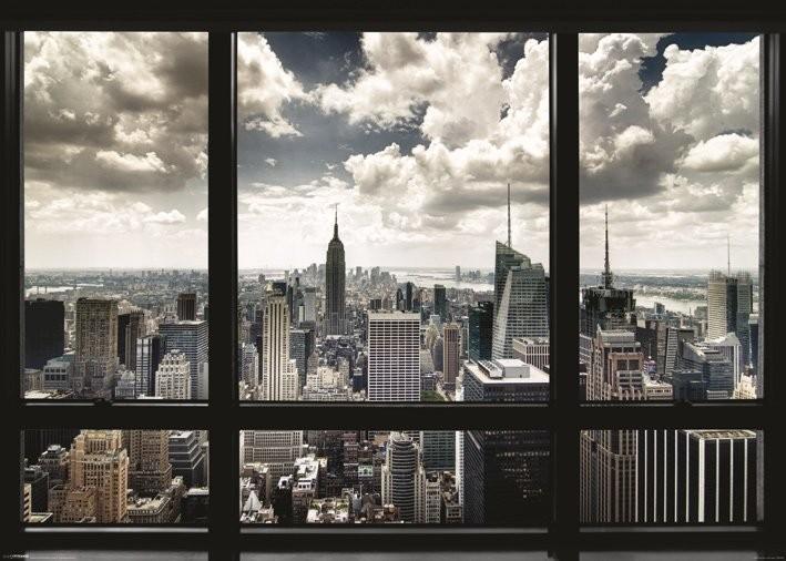 New York - window Poster, Art Print