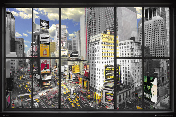 new york window poster sold at europosters. Black Bedroom Furniture Sets. Home Design Ideas