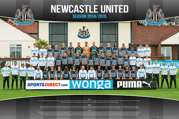 Newcastle United FC - Team Photo 14/15 Poster
