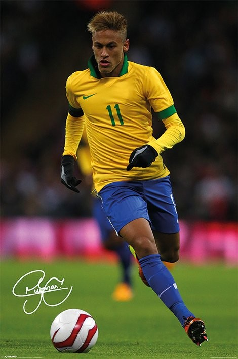 Neymar Autograph Poster Sold At Ukposters