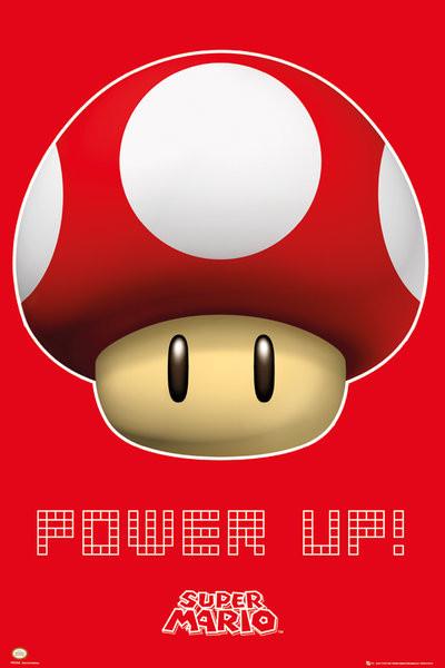 Nintendo - power up  Poster