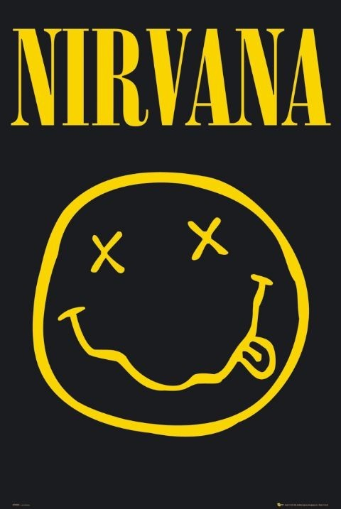 Nirvana – smiley Poster