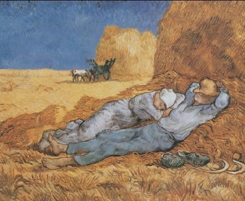 Noon: Rest from Work, 1890 Art Print