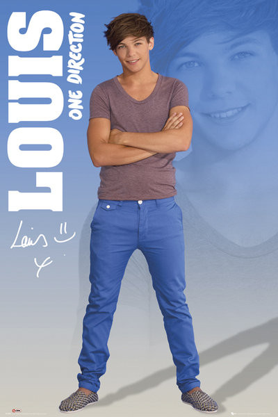 One Direction - louis 2012 Poster, Art Print
