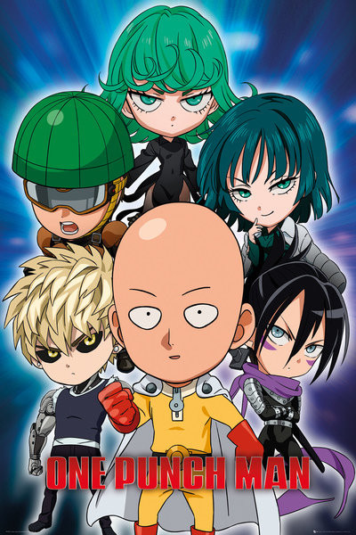 One Punch Man Chibi Poster Sold At Abposters Com