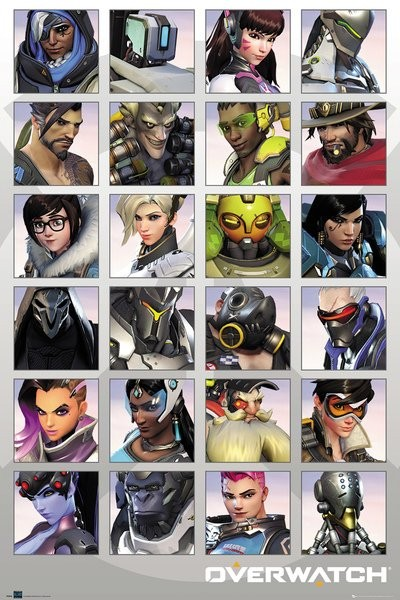 Poster Overwatch - Character Portraits
