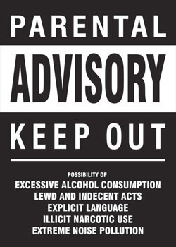Parental advisory - keep out Poster, Art Print
