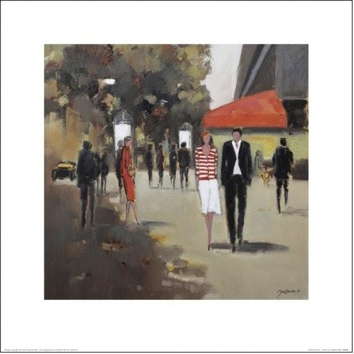 Paris - Café De La Paix Art Print