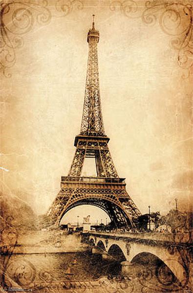 paris eiffel tower vintage poster sold at abposters com