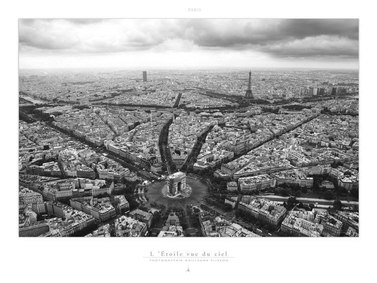 Paris l 39 etoile vue du ciel art print buy at europosters - Image ciel etoile ...