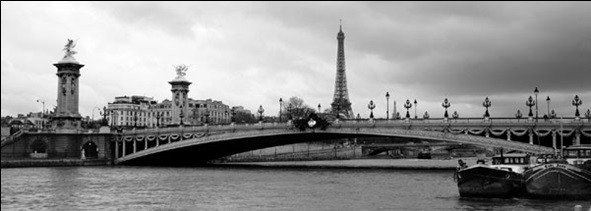 Paris - Pont Alexandre-III and Eiffel tower Art Print