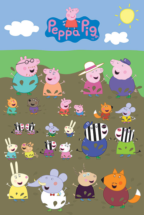 peppa pig characters muddy puddle poster sold at abposters com