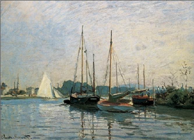 Pleasure Boats, Argenteuil, 1872-3 Art Print