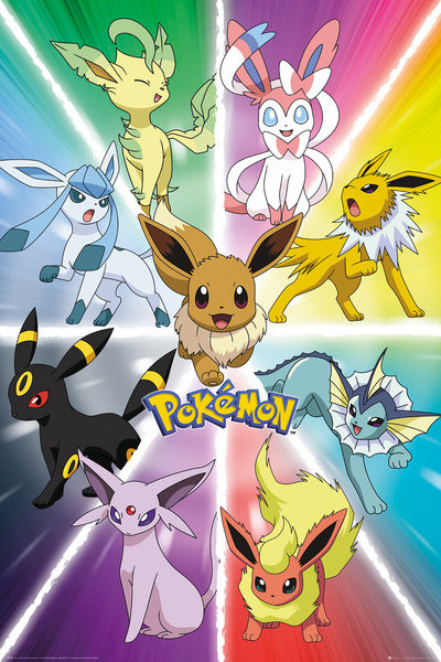 Pokemon - Eevee Evolution Poster