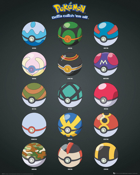 Pokemon - Pokeballs Poster