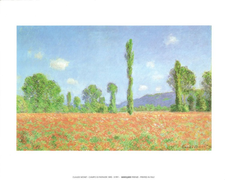 Poppy Field in Giverny, 1890 Art Print