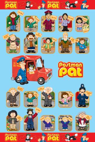 POSTMAN PAT - characters Poster