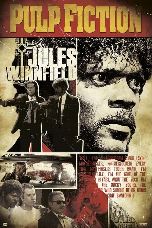 Pulp Fiction - Jules Poster