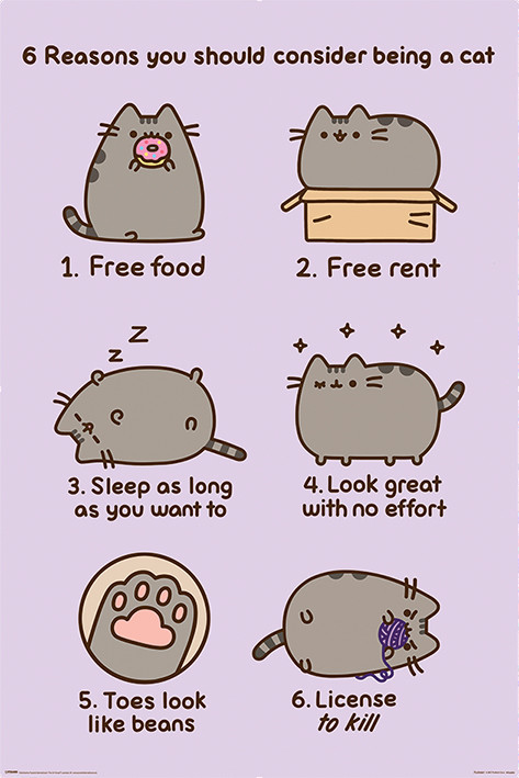pusheen reasons to be a cat poster sold at abposters com