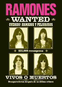 Ramones - wanted Poster, Art Print