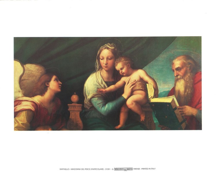 Raphael Sanzio - Madonna of the Fish - Madonna with the Fish, 1514 (part) Art Print