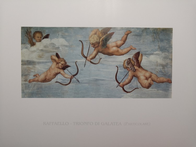 Raphael Sanzio - The Triumph of Galatea (part) Art Print