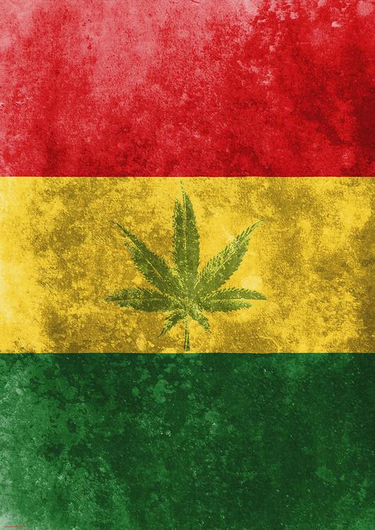 Poster Rasta Flag - Leaf