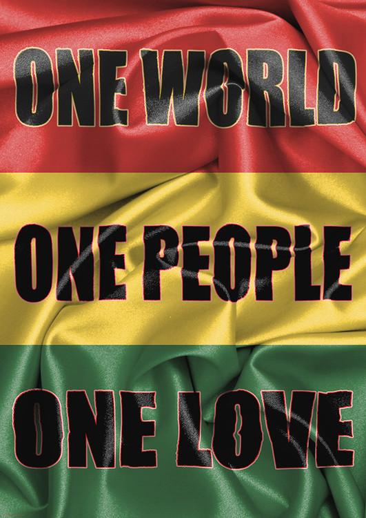 Poster Rasta Flag - One Love