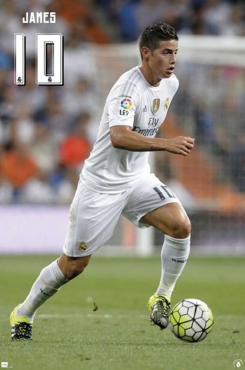 Poster Real Madrid 2015/2016 - James accion