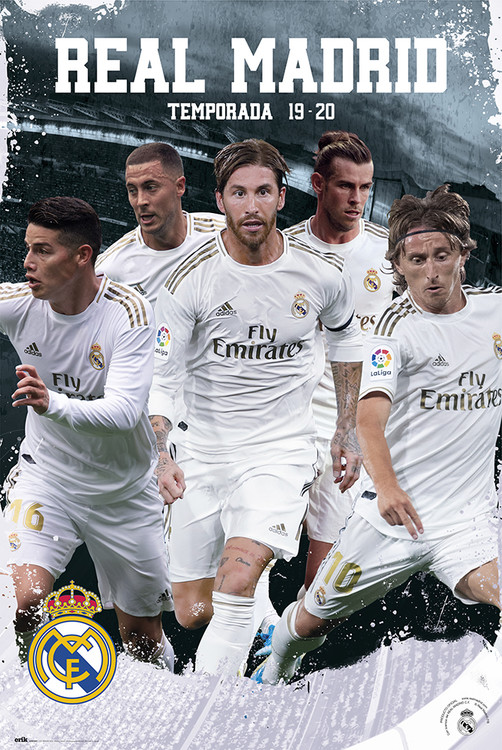 Real Madrid 2019/2020 - Team Action Poster