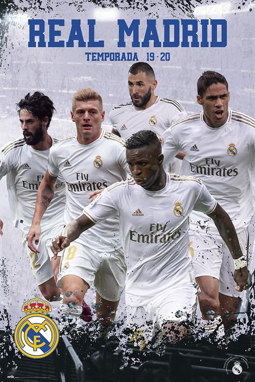 Poster  Real Madrid 2019/2020 - Grupo