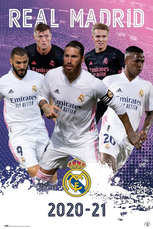 Real Madrid - Group 2020/2021 Poster