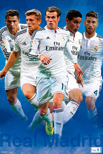 Real Madrid - Group Shot 14 15 Poster  0ca98cd957