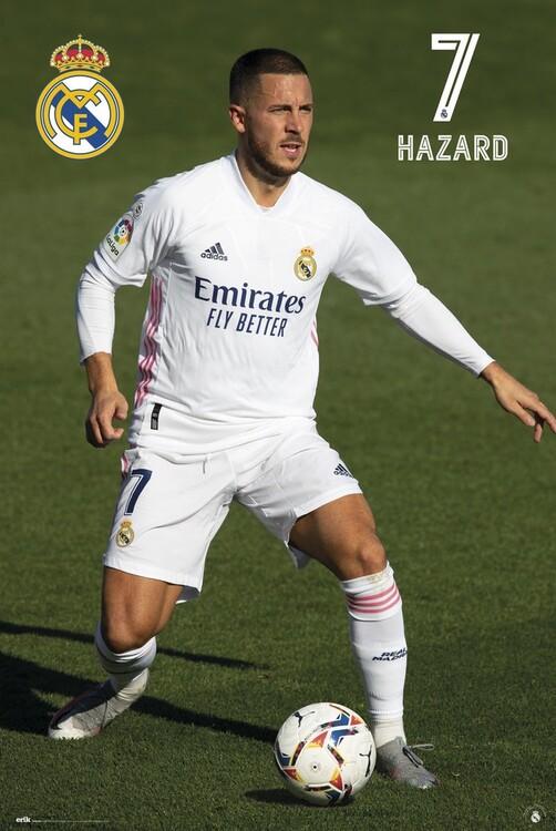 Poster Real Madrid - Hazard 2020/2021