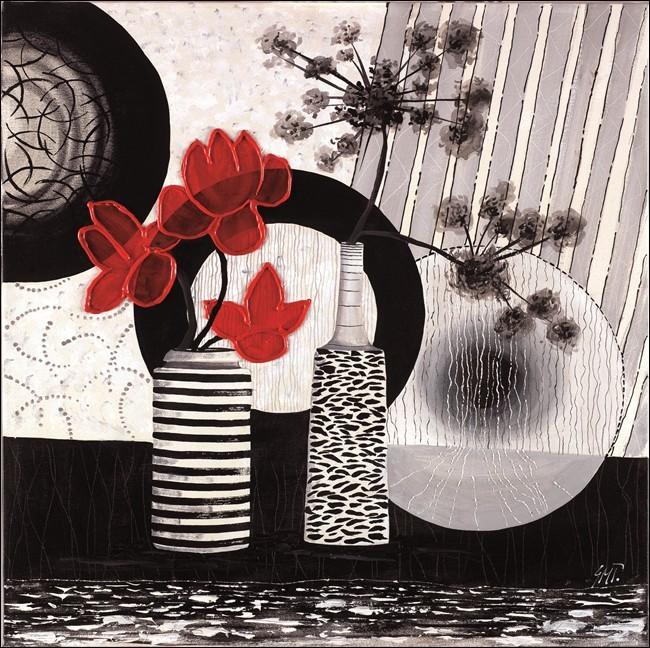 Red art 2 – Trittico Art Print