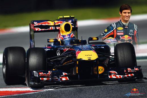 Red Bull racing - webber Poster, Art Print