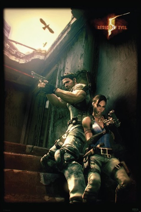 Resident Evil 5 Against A Wall Poster Sold At Europosters