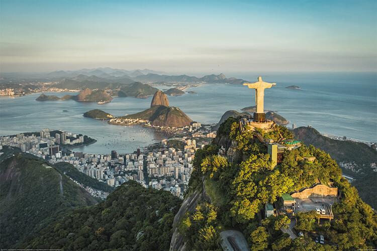 Poster Rio de Janeiro - Christ and Botafogo Bay