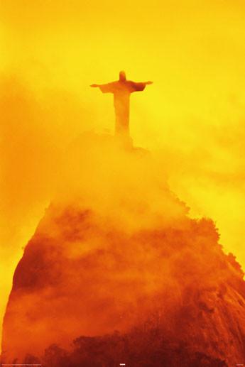 Poster  Rio de Janeiro - christ the redeemer