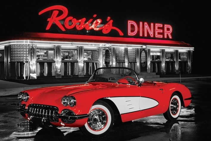Rosie 39 s diner poster sold at europosters for Diner artwork
