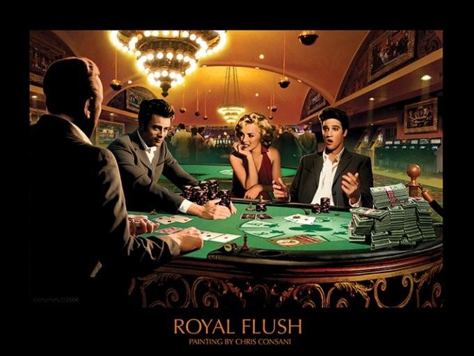 Royal Flush - Chris Consani Art Print