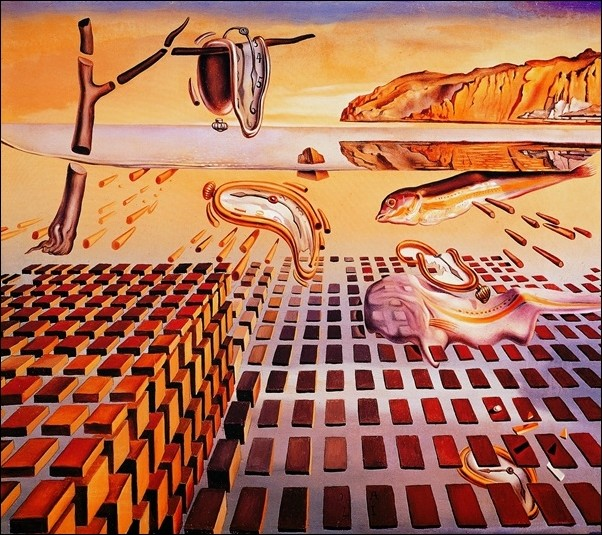 Salvador Dali - The Disintegration Art Print