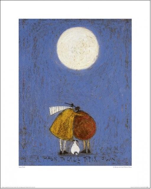 Sam Toft - A Moon To Call Their Own Art Print