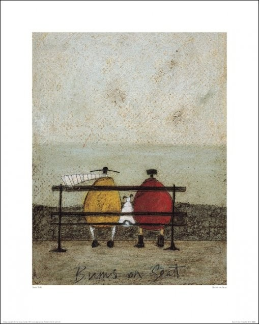 Sam Toft - Bums On Seat Art Print