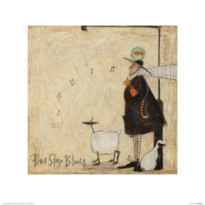 Sam Toft - Bus Stop Blues Art Print