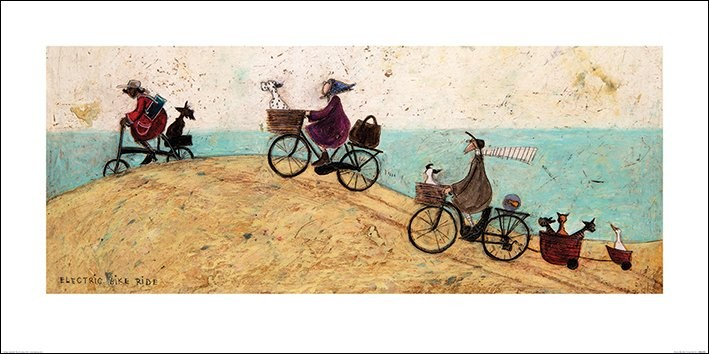 Sam Toft - Electric Bike Ride Art Print